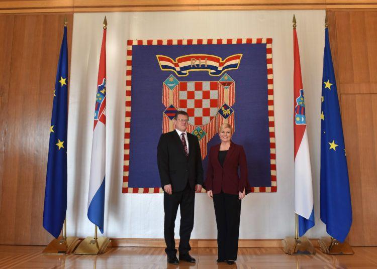Predsjednica Grabar-Kitarović primila potpredsjednika Europske komisije zaduženog za Energetsku uniju