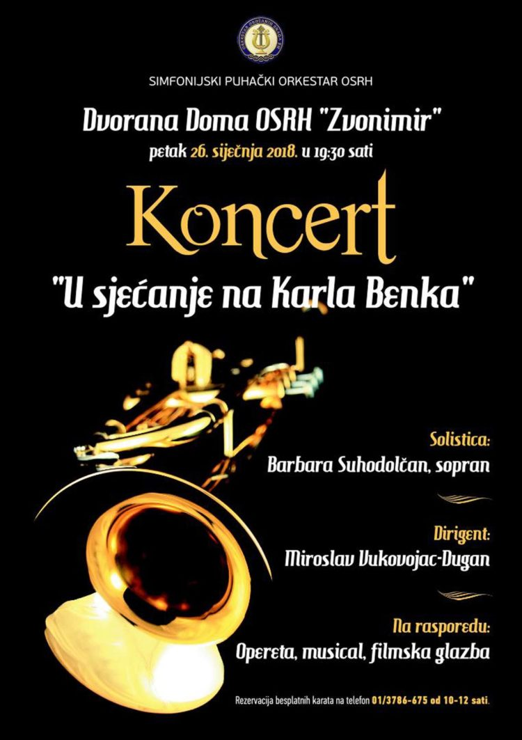 """Koncert """"U sjećanje na Karla Benka"""""""