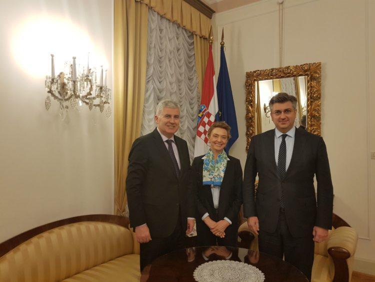 Predsjednik Vlade Plenković s Čovićem o europskoj perspektivi BiH i ravnopravnosti Hrvata