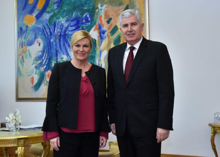 Predsjednica Grabar Kitarović primila je Predsjedavajućeg Predsjedništva Bosne i Hercegovine Dragana Čovića