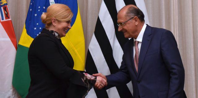 Hrvatska Predsjednica Grabar-Kitarović s guvernerom države São Paulo Geraldom Alckminom