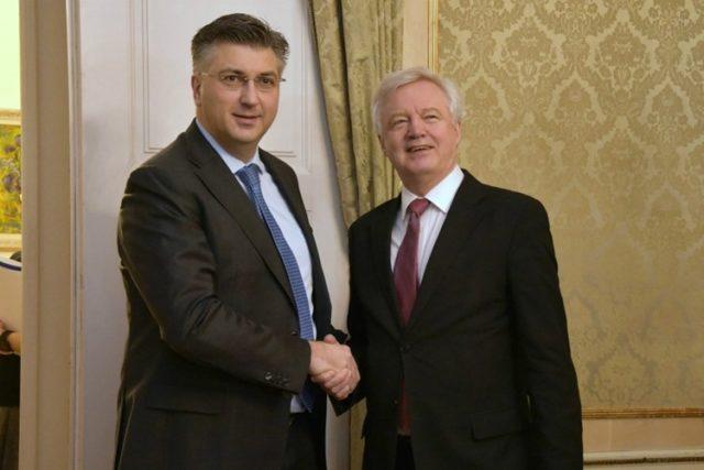 Plenković s britanskim ministrom Davidom Davisom