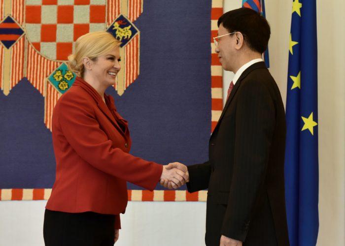 """Predsjednica Republike Grabar-Kitarović i Jianming: """"Dobra suradnja Kine i Hrvatske, Pelješki most prilika za njeno širenje"""""""
