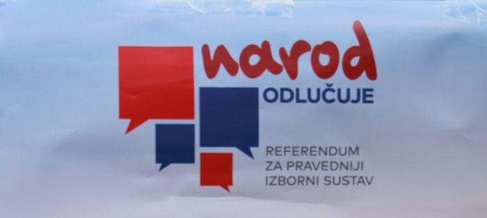 """Građanska inicijativa """"Narod odlučuje"""" prikupila dovoljno potpisa za referendum o izmjeni izbornog sustava"""