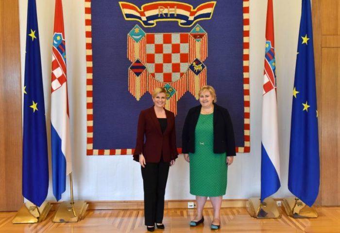 Hrvatska predsjednica Grabar-Kitarović i Solberg: Hrvatska i Norveška su važni partneri