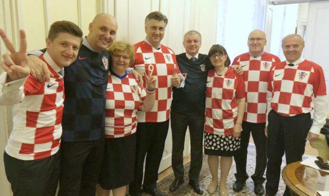 Premijer Andrej Plenković čestitao nogometnoj reprezentaciji na plasmanu u finale SP u Rusiji
