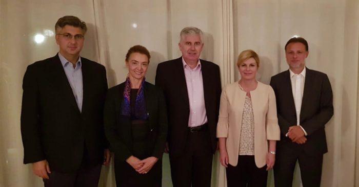 Državni vrh: Puna potpora legitimnim zahtjevima hrvatskog naroda u BiH za jednakopravnošću