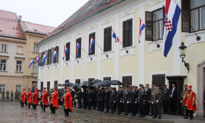 U povodu Dana neovisnosti, ceremonija velike smjene straže na Trgu sv. Marka