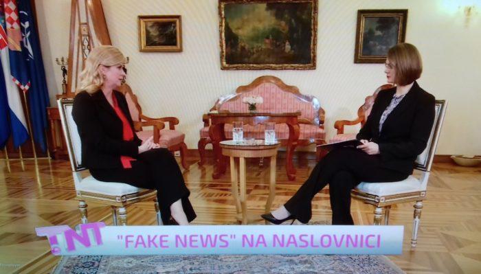 Predsjednica Grabar-Kitarović o lažiranim fotografijama ministra Tolušića: Treba utvrditi otkuda fotografije, i tko ih je i s kojom namjerom plasirao