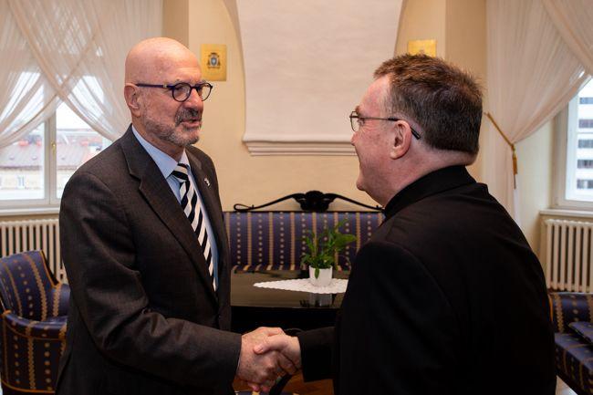 Kardinal Josip Bozanić primio u nastupni posjet veleposlanika Države Izrael