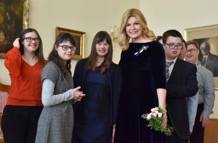 Predsjednica Republike Grabar-Kitarović primila članove Udruge za sindrom Down Zagreb