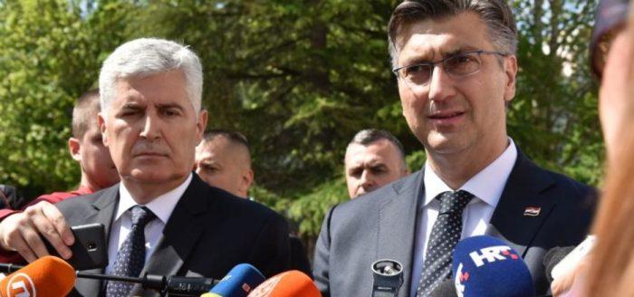 Plenković: Hrvatska će nastaviti snažno podupirati europski put BiH