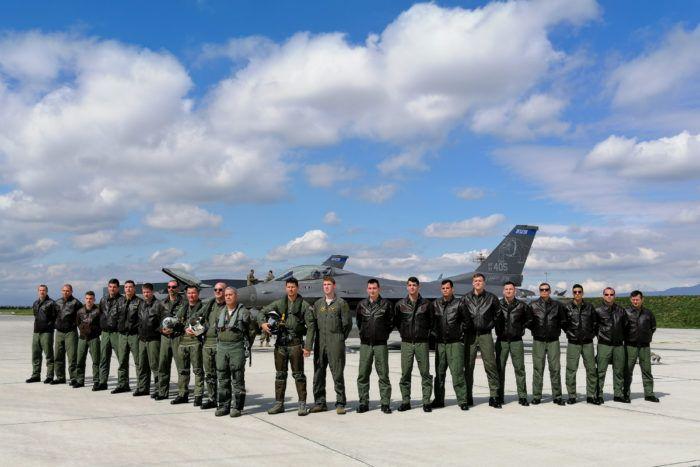 """Kadeti s američkim avionima F-16: """"Američki višenamjenski borbeni avioni djeluju impozantno i moćno"""""""