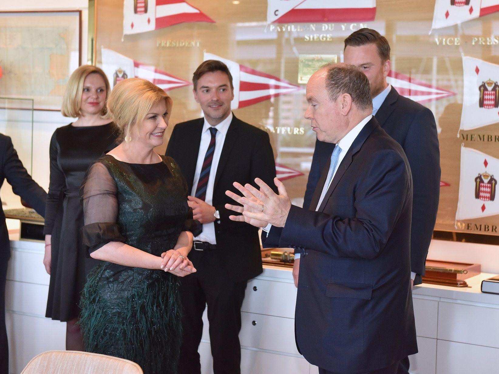 Predsjednica Grabar-Kitarović s knezom Albertom II. : zajednički interes u turizmu, zelenoj industriji