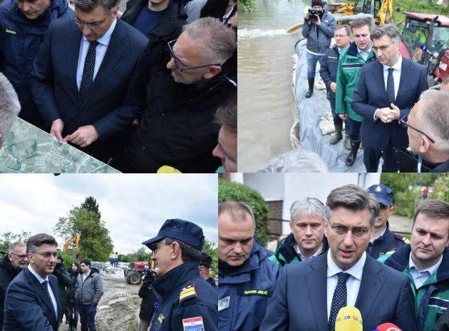 Plenković: Unatoč rekordnim vodostajima, nisu poplavljene kuće zahvaljujući box-barijerama