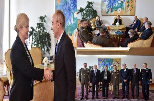 Uoči Dana oružanih snaga predsjednica Republike Grabar-Kitarović primila izaslanstvo MORH-a i OSRH-a
