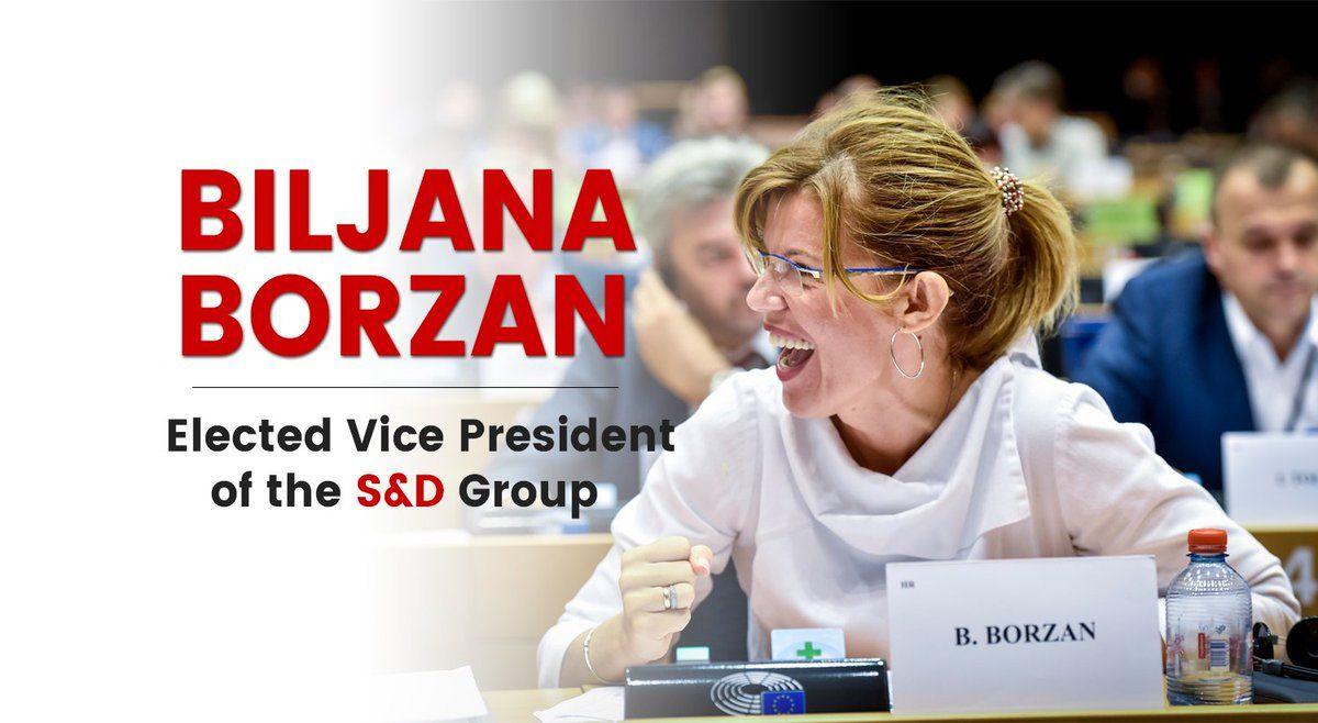 Hrvatska zastupnica u Europskom parlamentu Biljana Borzan izabrana za potpredsjednicu zastupničkog kluba europskih socijalista