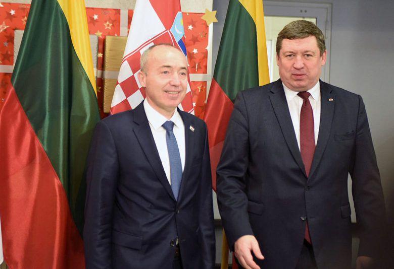 Ministar Krstičević s litavskim ministrom u Vilniusu