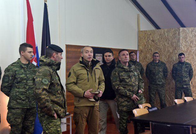 Krstičević posjetio hrvatske vojnike u Litvi