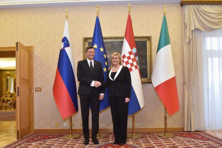 Hrvatska predsjednica Kolinda Grabar Kitarović u radnom posjetu Sloveniji