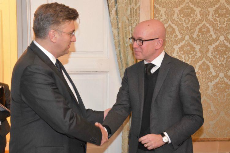 Plenković s glavnim direktorom Međunarodnog odbora Crvenog križa Yvesom Daccordom