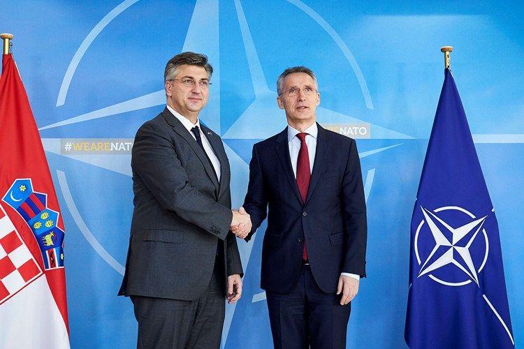 Plenković s glavnim tajnikom NATO-a: Važna je uloga Hrvatske u očuvanju stabilnosti i sigurnosti u regiji