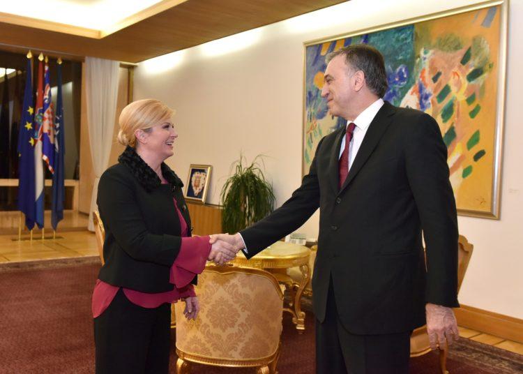Predsjednice Grabar-Kitarović s Predsjednikom Crne Gore Vujanovićem