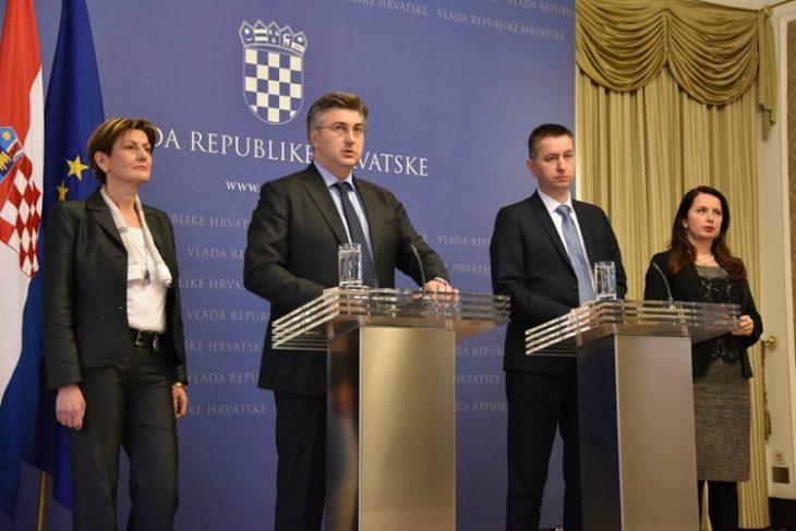 Plenković predstavio Fabrisa Peruška i Irenu Weber: Očekujemo nastavak ispunjavanja ciljeva izvanredne uprave