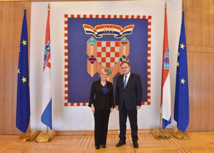 Predsjednica Grabar-Kitarović primila člana Predsjedništva Bosne i Hercegovine dr. Mladena Ivanića