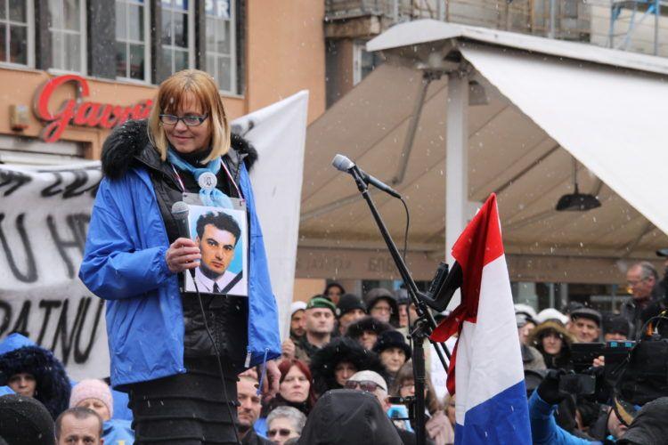 Braniteljske udruge održale su prosvjed u Zagrebu protiv Alexandra Vučića