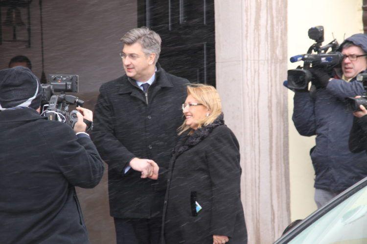 Predsjednik Vlade Plenković s predsjednicom Republike Malte Coleiro Preca