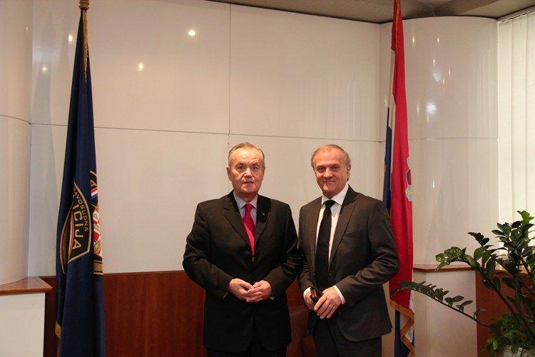 Ministar pravosuđa Bošnjaković primio Constantina Mihaila Grigoriea veleposlanika Rumunjske