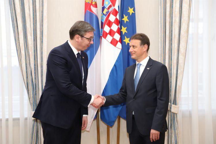 Predsjednik Hrvatskoga sabora Gordan Jandroković primio predsjednika Republike Srbije Aleksandra Vučića