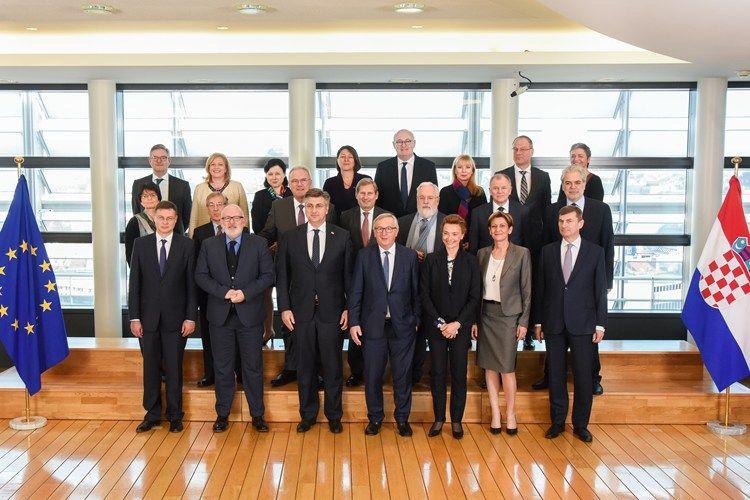 Predsjednik Vlade Plenković u Bruxellesu s Junckerom i Donaldom Tuskom