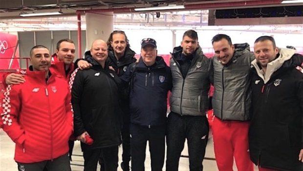 Hrvatske bobiste posjetio Albert II od Monaka