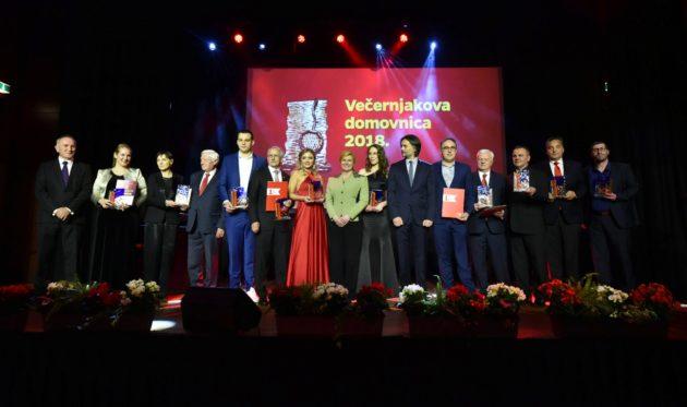 "Predsjednica Grabar-Kitarović sudjelovala na svečanoj dodjeli nagrada ""Večernjakova domovnica 2018."""