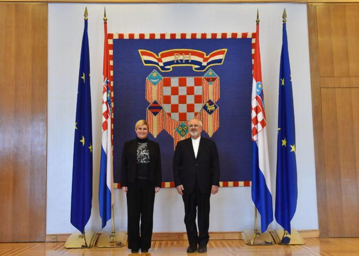 Predsjednica Grabar-Kitarović primila ministra vanjskih poslova Islamske Republike Irana