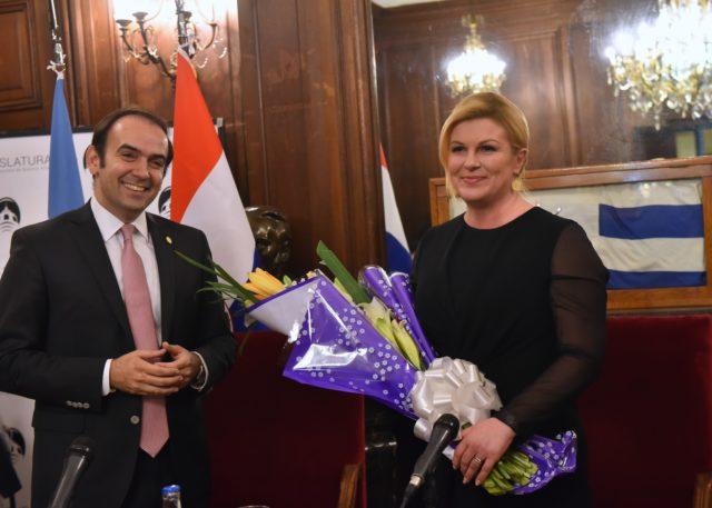 Predsjednica Grabar-Kitarović: Mnogi su Hrvati u Argentini pronašli slobodu nakon rata