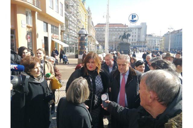 Ministrica Žalac i gradonačelnik Bandić otvorili sajam hrvatskih otočnih proizvoda