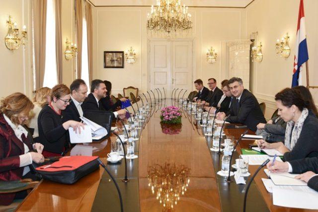 Predsjednik Vlade Plenković primio glavnog tajnika Europske konfederacije sindikata Visentinija