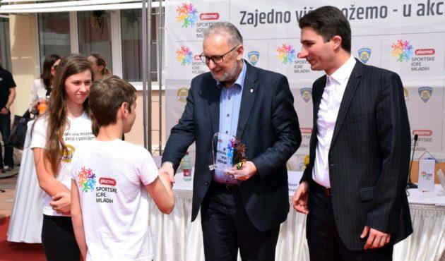 """Plazma Sportske igre mladih 2018 – Ministar Božinović: """"Moramo s djecom i mladim ljudima raditi od početka, a najbolje ih je okupiti oko sporta, jer sport ima moć da mijenja svijet i ujedinjuje ljude"""""""