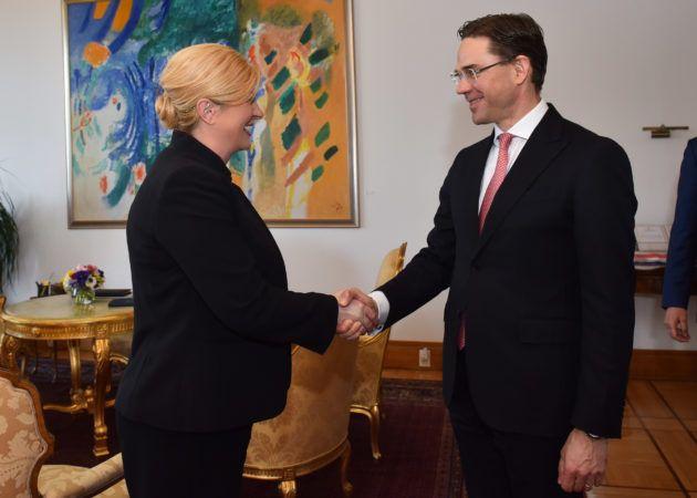 Predsjednica Republike Kolinda Grabar Kitarović primila potpredsjednika Europske komisije za radna mjesta, ulaganja i konkurentnost Jyrkija Katainena