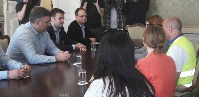 Premijer Andrej Plenković razgovarao s prosvjednicima iz Slavonskog Broda