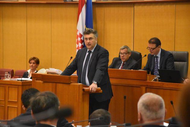 Predsjednik Vlade Plenković oporbi: Nećete smijeniti Martinu Dalić
