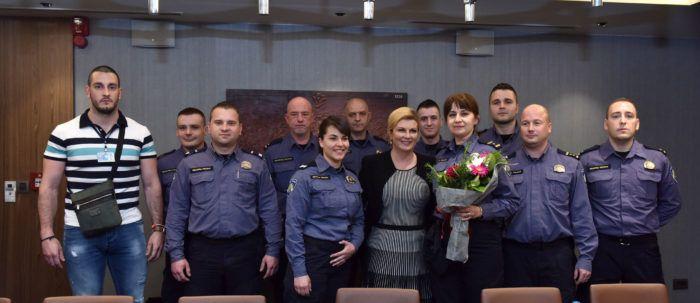 MAKEDONIJA – Predsjednica Grabar-Kitarović se sastala s hrvatskim gospodarstvenicima i pripadnicima hrvatske policije