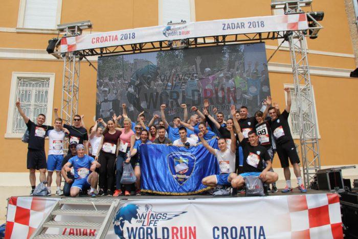 "ZADAR – Hrvatska policija sudjelovala u humanitarnoj utrci ""Wings For Life World Run 2018"""