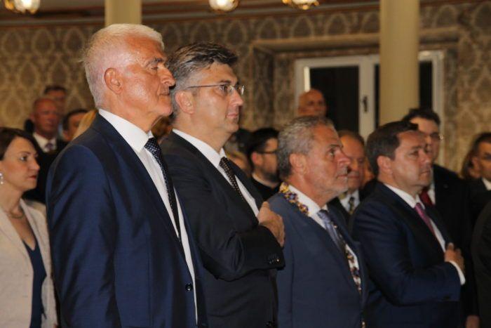 Šef HDZ-a Andrej Plenković na svečanoj sjednici u povodu Dana Grada Zagreba kao prvi premijer nakon 20-ak godina