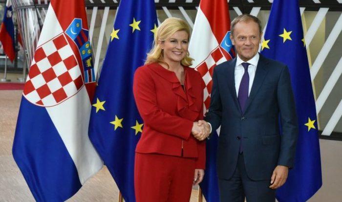 Predsjednica Grabar-Kitarović želi zajedno s premijerom Plenkovićem predsjedati EU-om