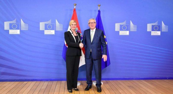 Predsjednica Grabar-Kitarović izvijestila predsjednika EK-a Junckera o Inicijativi triju mora