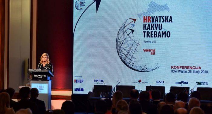 """""""Hrvatska kakvu želimo"""" Predsjednica Grabar-Kitarović: Gospodarstvo se mora početi prilagođavati globalnim promjenama"""